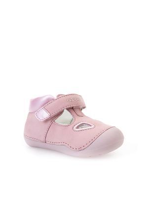 Туфли GEOX. Цвет: розовый