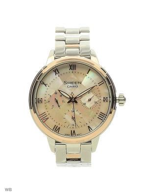 Часы Sheen SHE-3055SPG-4A CASIO. Цвет: светло-бежевый