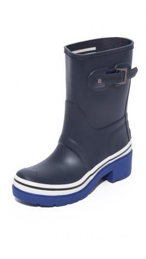 Короткие ботильоны Original Buoy с полосками Hunter Boots. Цвет: темно-синий/насыщенный кобальтовый/белый
