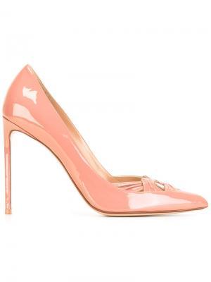 Туфли на шпильке Francesco Russo. Цвет: розовый и фиолетовый