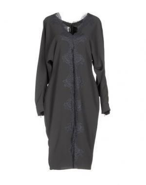 Платье до колена RHEA COSTA. Цвет: свинцово-серый