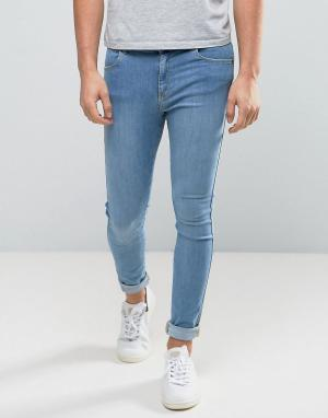 Dr Denim Голубые обтягивающие джинсы Lexy. Цвет: синий
