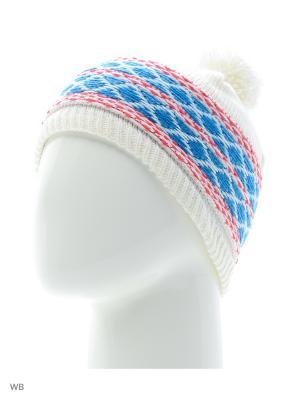 Шапка KUBA BEANIE White/LOTUS PINK/BL SALOMON. Цвет: белый, синий, розовый