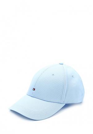 Бейсболка Tommy Hilfiger. Цвет: голубой