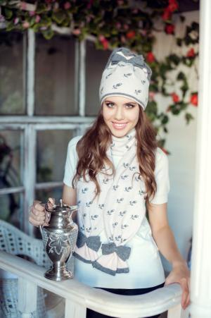 Комплект валентина (шапка+шарф) Landre