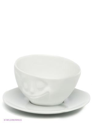 Чайная пара Tassen. Цвет: белый