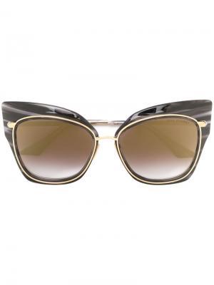 Солнцезащитные очки Stormy Dita Eyewear. Цвет: чёрный