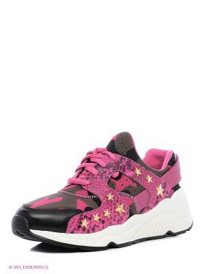 Кроссовки ASH. Цвет: хаки, розовый