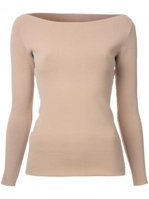 Блузка с вырезами Dion Lee. Цвет: телесный