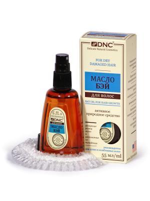 Масло Бэй для волос (55 мл) в наборе с п/э шапочкой DNC. Цвет: прозрачный, светло-желтый