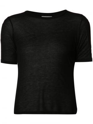 Базовая футболка Toteme. Цвет: чёрный
