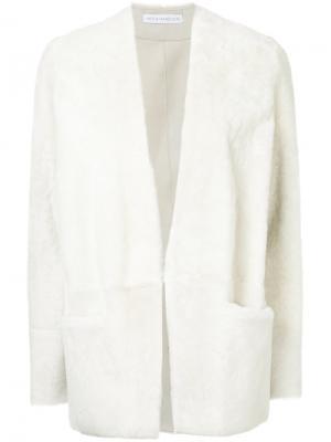 Открытый пиджак из овчины Inès & Maréchal. Цвет: белый