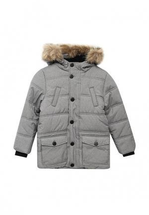 Куртка утепленная Modis. Цвет: серый