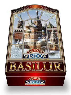Чай Basilur окна Москва. Цвет: бордовый