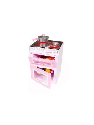 Кухонная плита Casdon (сковородки и имитационная еда в комплекте), цвет:розовый. Цвет: розовый