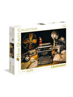 Итальянский пазл Clementoni. Серия High Quality. Пишущая машинка. 500 элементов. Clementoni. Цвет: черный, золотистый, темно-бордовый