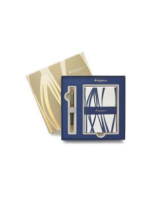 Набор ручка шариковая HEMISPHERE Mars Black GT + 10 конвертов и открыток Waterman. Цвет: черный