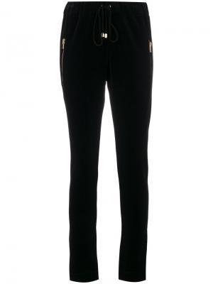 Спортивные брюки с карманами на молнии Alexandre Vauthier. Цвет: чёрный