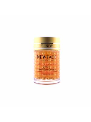 Гель Золотые шарики NewFace для век 3 в 1, 30 гр. New Face. Цвет: прозрачный, золотистый