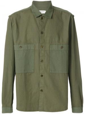 Рубашка Savage YMC. Цвет: зелёный