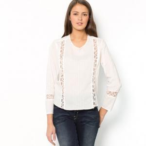 Блузка BY ZOE. Цвет: экрю