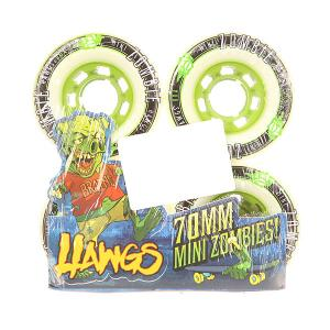 Колеса для скейтборда лонгборда  Pre-Packaged Mini Zombie Hawgs White 80A 70 mm Landyachtz. Цвет: белый
