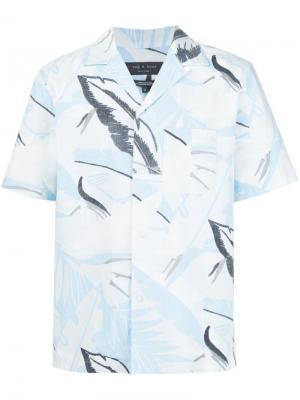 Рубашка с абстрактным принтом Rag & Bone. Цвет: белый