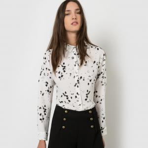 Рубашка с рисунком SUNCOO. Цвет: экрю