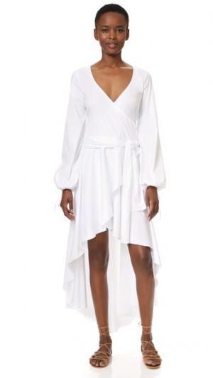 Платье Lena Caroline Constas. Цвет: белый