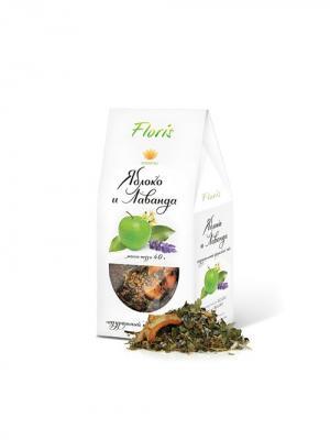 Чай Яблоко и Лаванда Floris. Цвет: черный