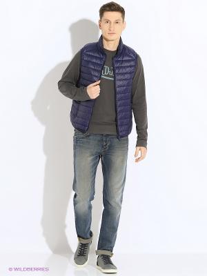 Пуховая жилетка мужская Burlesco. Цвет: синий