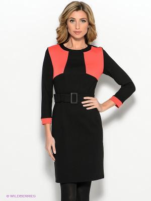 Платье Capriz. Цвет: черный, коралловый