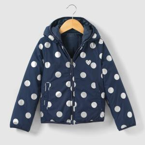 Куртка стеганая двухсторонняя с капюшоном 3-14 лет IKKS JUNIOR. Цвет: темно-синий