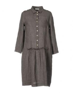 Платье до колена ROSSO35. Цвет: серый