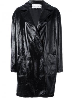 Лакированное пальто Wanda Nylon. Цвет: чёрный