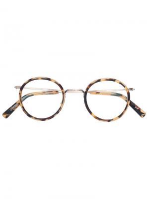 Tortoiseshell round glasses Masunaga. Цвет: коричневый