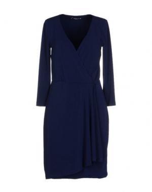Короткое платье CRISTINAEFFE COLLECTION. Цвет: синий