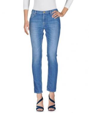 Джинсовые брюки AMY GEE. Цвет: синий