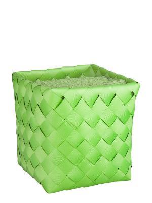 Набор полотенец в корзине Miolla. Цвет: зеленый