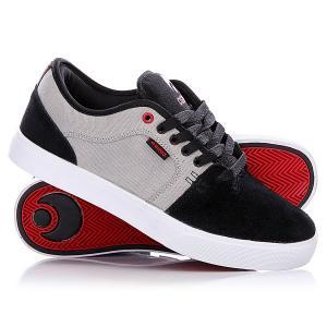 Кеды кроссовки низкие  Decay Grey/Black/Red Osiris. Цвет: черный,серый