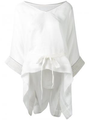 Блузка с рукавами-кимоно Gentry Portofino. Цвет: белый