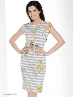 Платье Vaide. Цвет: серо-голубой, белый