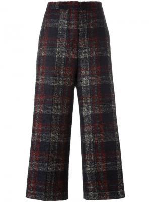 Укороченные брюки в клетку Rochas. Цвет: чёрный