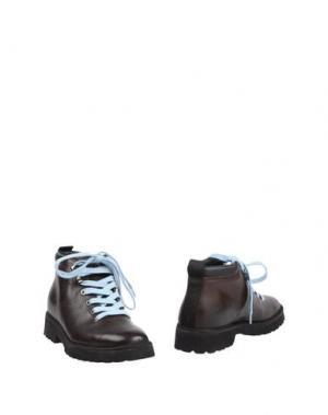 Полусапоги и высокие ботинки PÀNCHIC. Цвет: темно-коричневый
