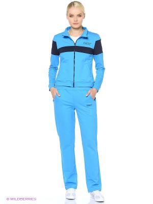 Спортивный костюм FORLIFE. Цвет: голубой, темно-синий