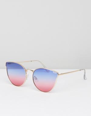 Quay Australia Солнцезащитные очки All My Love. Цвет: розовый