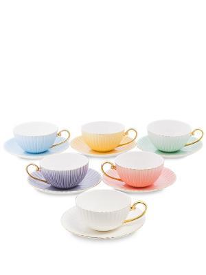 Чайный н-р на 6 перс. Тоскана микс (Pavone) Pavone. Цвет: розовый, персиковый, желтый, зеленый, голубой, фиолетовый