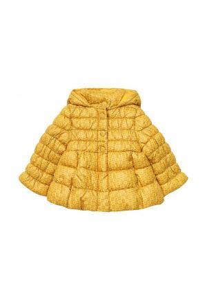 Куртка утепленная United Colors of Benetton. Цвет: желтый