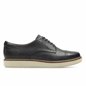 Ботинки-дерби кожаные Glick Shine CLARKS. Цвет: синий морской
