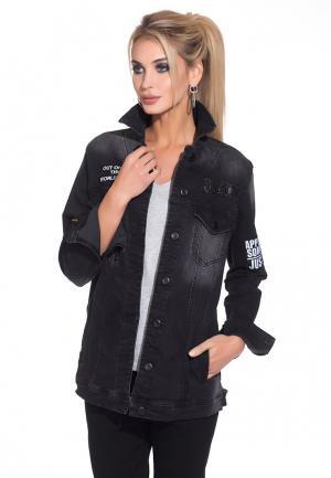 Куртка джинсовая Whitney. Цвет: черный